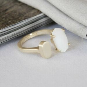 Nwot Kendra Scott Ring in pearl